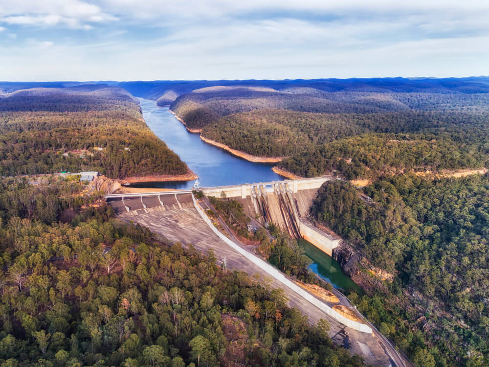 Warragamba's water level currently dropped to 45% of its total volume