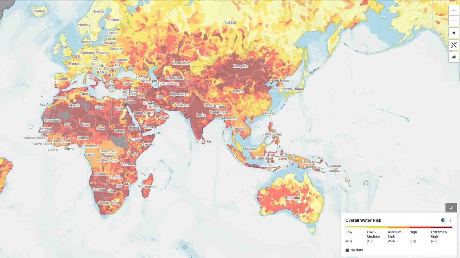 overall water risk atlas